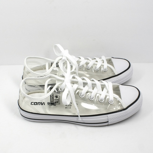 91c48b10600a84 Converse Shoes - SALE- NEW CLEAR Converse in Clear Ox White